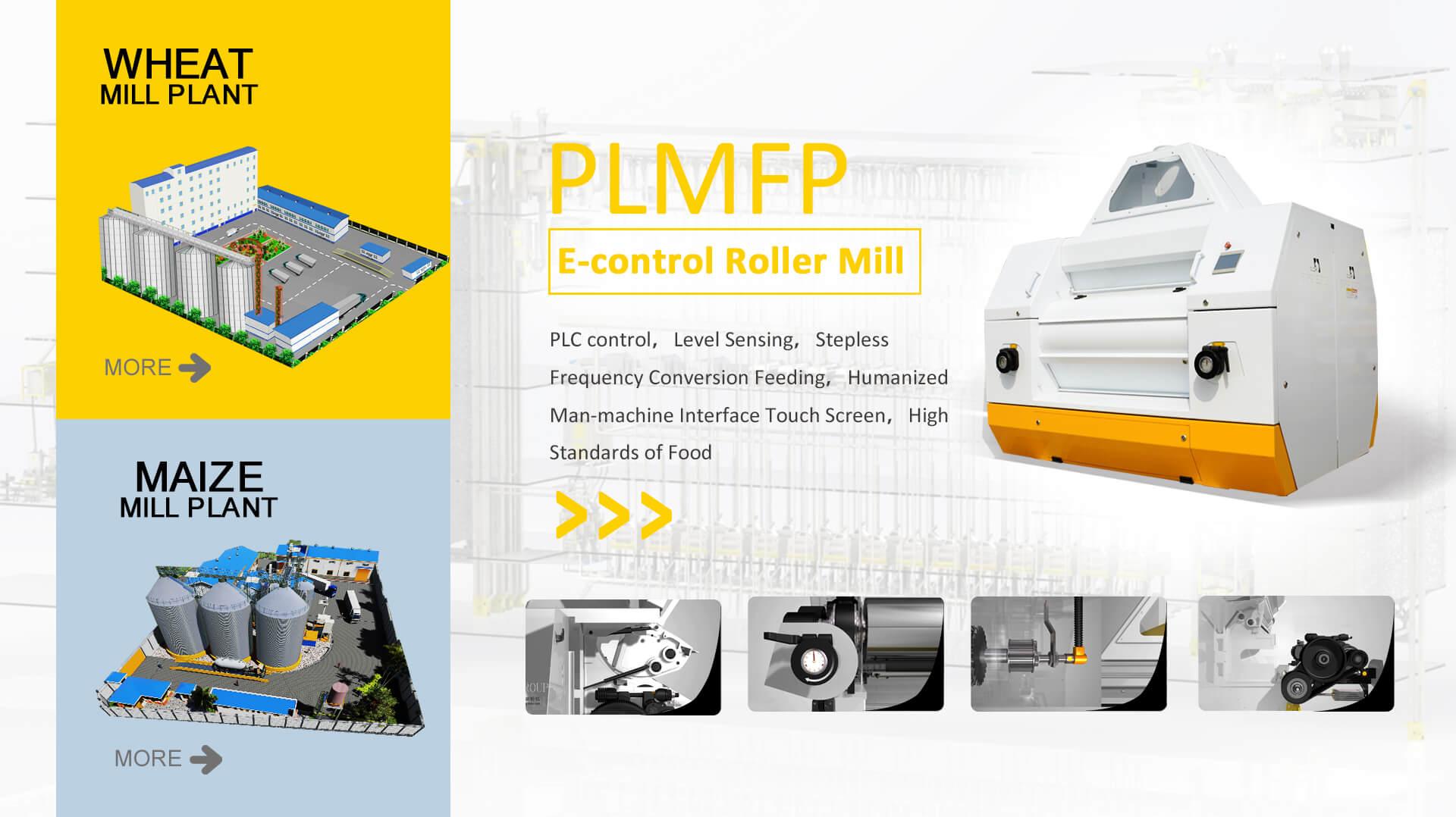 PLMFP E-control Broyeur à rouleaux